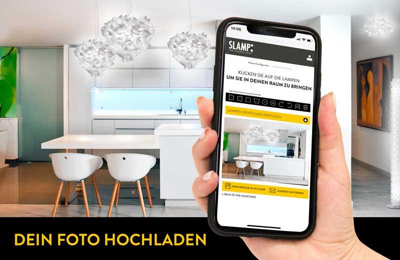 Slamp leuchten konfigurator dein-foto zuhause