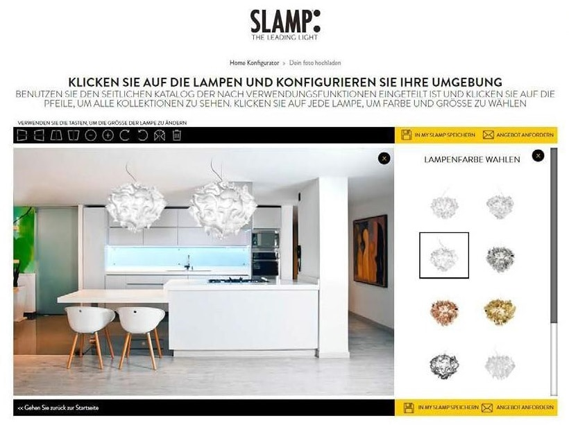 Slamp leuchten konfigurator inspirieren-lassen offene küche 3