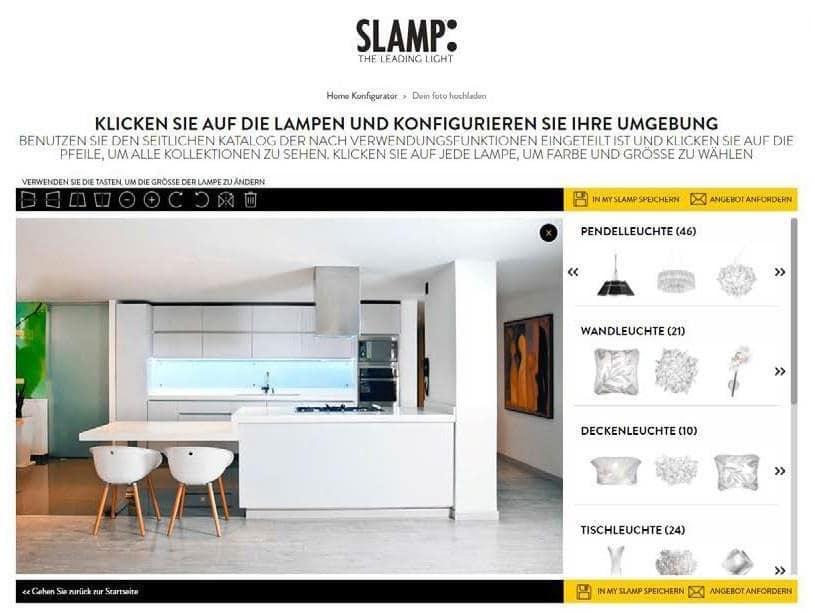 Slamp leuchten konfigurator inspirieren-lassen offene küche