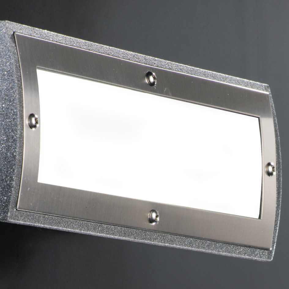 augenti GEMINI Wandleuchten für Kompaktleuchtstofflampen und LEDs edelstahl ip66