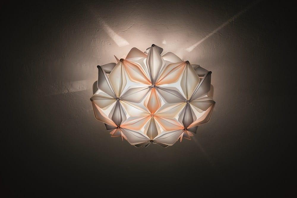 slamp la vie dekorative designer deckenleuchte italien Amber ceiling view-min