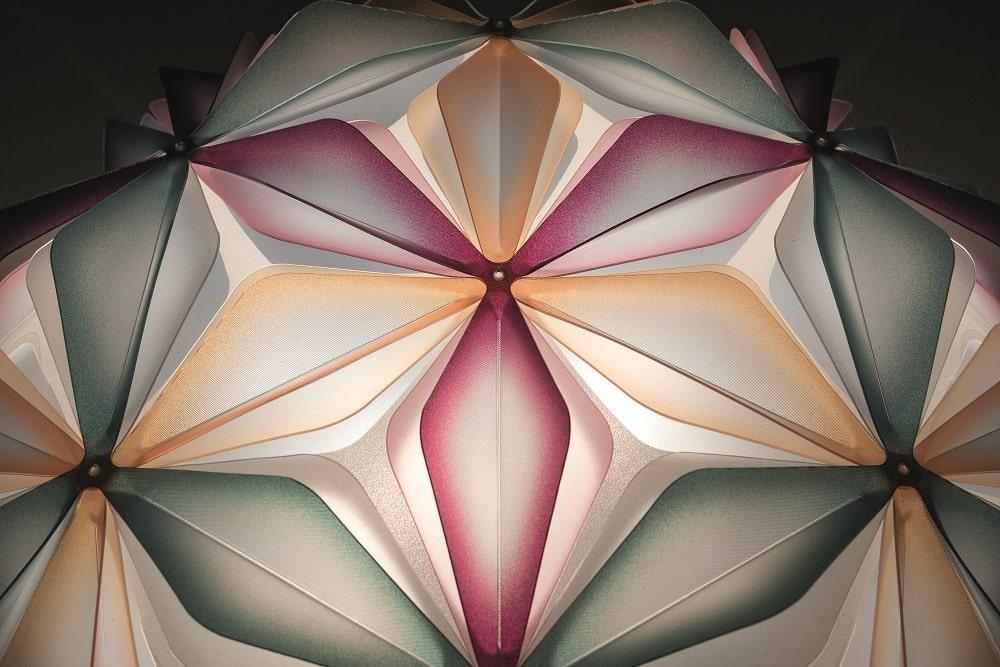 slamp la vie dekorative designer deckenleuchte italien Multigreen Detail-min