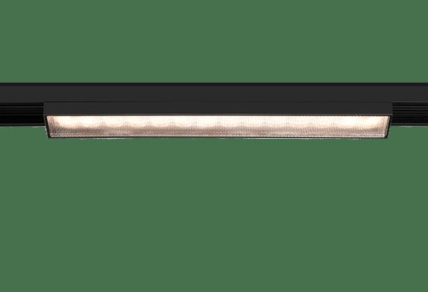 lumexx trivario design schienensystem hochvolt mit magnet led lichtpanel one schwarz