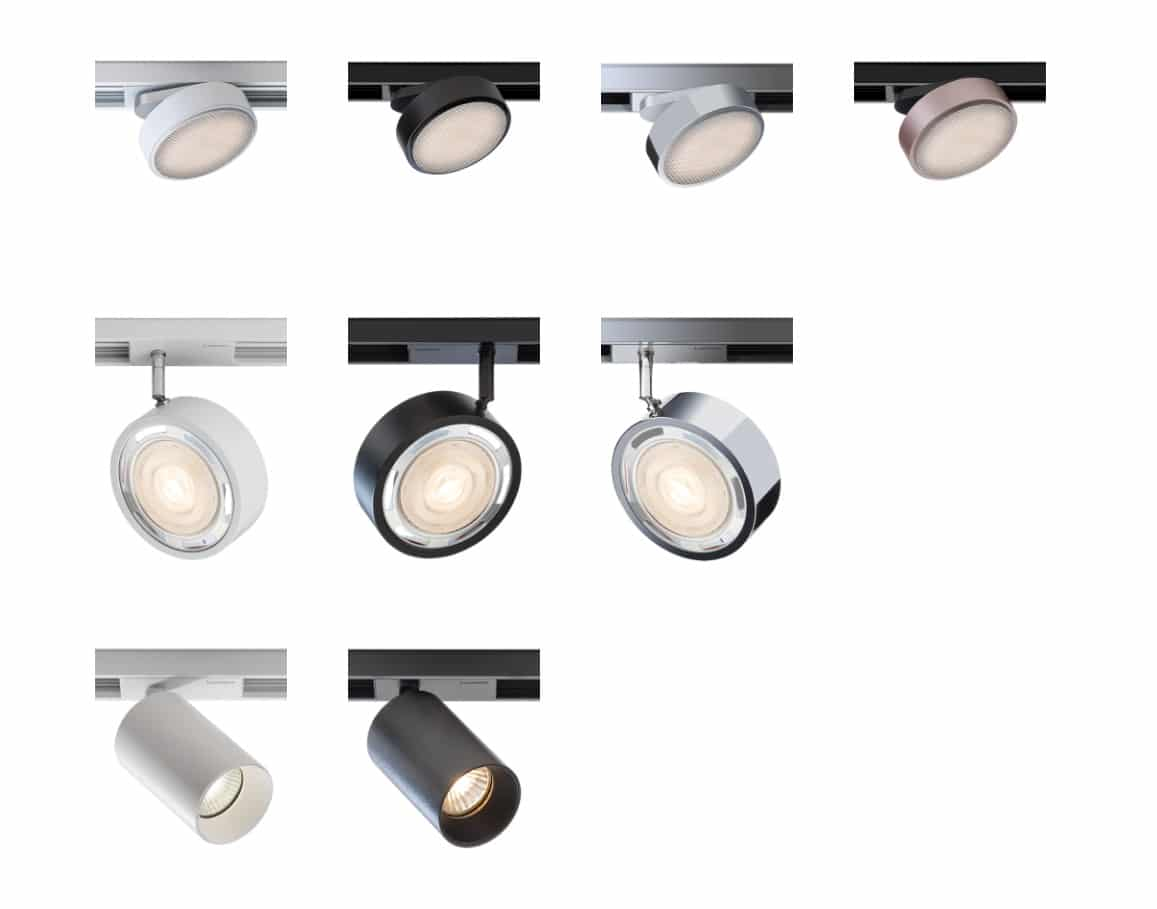 lumexx trivario design schienensystem hochvolt mit magnet led spot 2